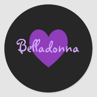 Belladonna in Purple Classic Round Sticker