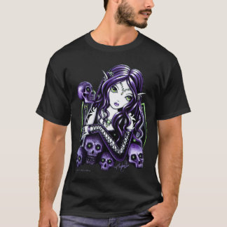 Belladonna Purple Halloween Skull Faery Tee