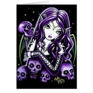 Belladonna Purple Skull Fairy Card