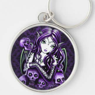 """Belladonna"" Purple Skull Fairy Keychain"
