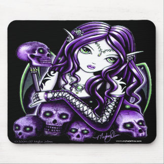 Belladonna Purple Skull Fairy Mousepad