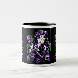 """Belladonna"" Purple Skull Fairy Mug"