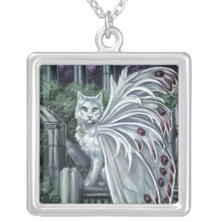Belladonna White Fairy Cat Necklace