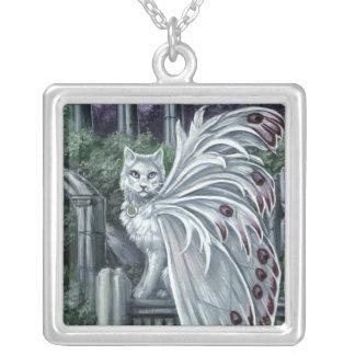 Belladonna White Fairy Cat Necklace