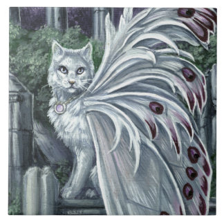 Belladonna White Fairy Cat Tile