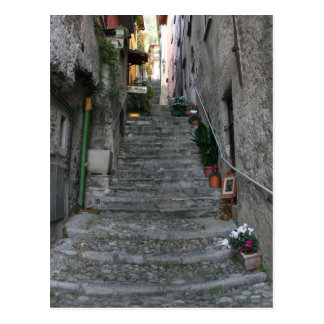 Bellagio, Italy ~ Up Stairs Postcard