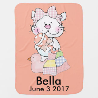 Bella's Personalized Kitty Baby Blanket