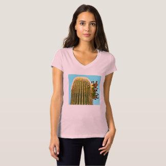 Bella's Vee Neck Jersey Tee - Dove on Saguaro