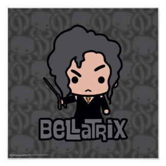 Bellatrix Cartoon Character Art Poster