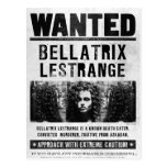 Bellatrix Lestrange Wanted Poster Postcard