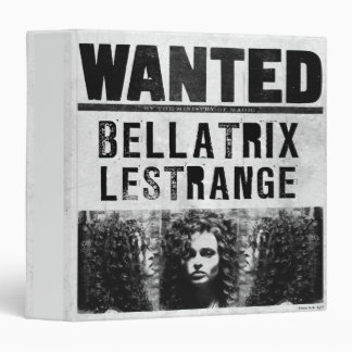 Bellatrix Lestrange Wanted Poster Vinyl Binders