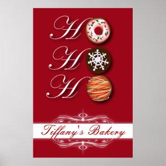 Belle affiche de promo de biscuit de boulangerie d