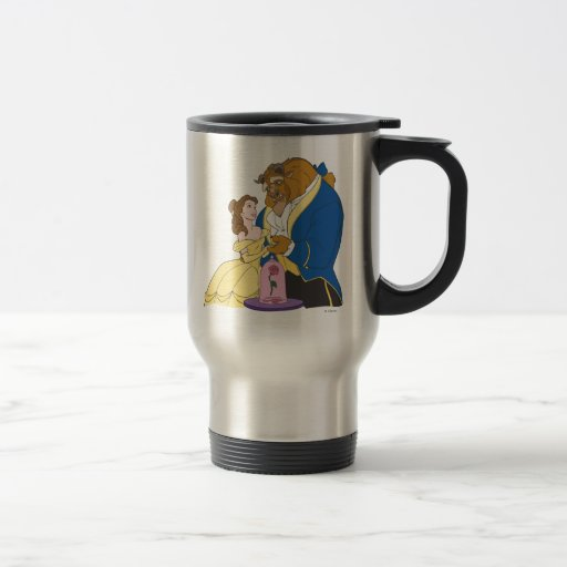 Belle and Beast Holding Hands Mug