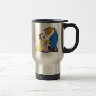 Belle and Beast Holding Hands Travel Mug