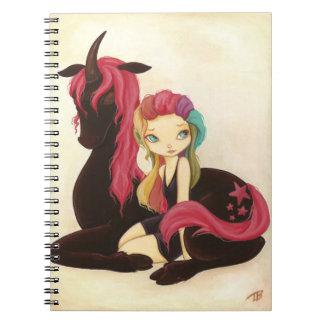 Belle and night - Fairy rainbow unicorn notebook