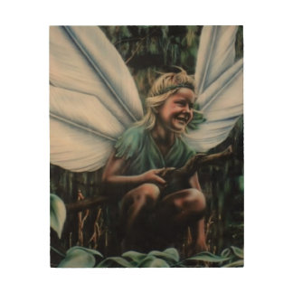 Belle as Fairy Wood Wall Art