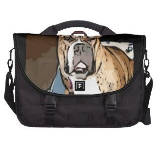 Belle as the bulldog princess laptop messenger bag