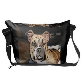 Belle as the bulldog princess courier bag