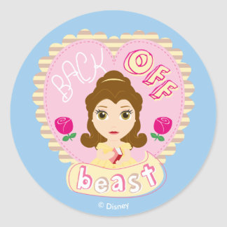 Belle | Back Off Beast Classic Round Sticker