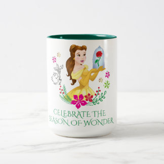 Belle | Belle And Her Christmas Rose Two-Tone Coffee Mug