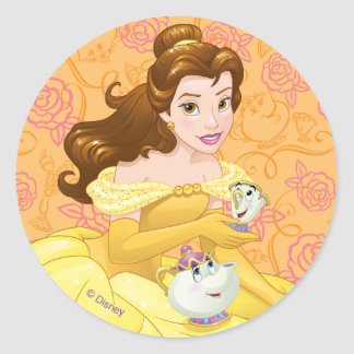 Belle | Besties Chill Together Classic Round Sticker