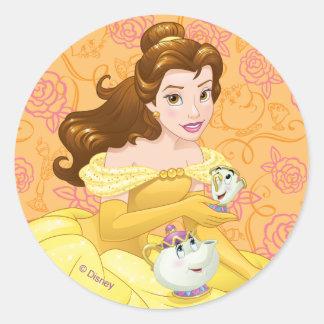 Belle | Besties Chill Together Round Sticker