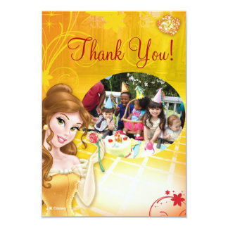 "Belle Birthday Thank You Cards 3.5"" X 5"" Invitation Card"