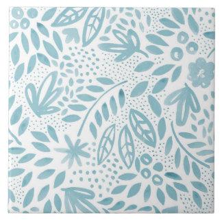 Belle Blue Floral Ceramic Tile - 2