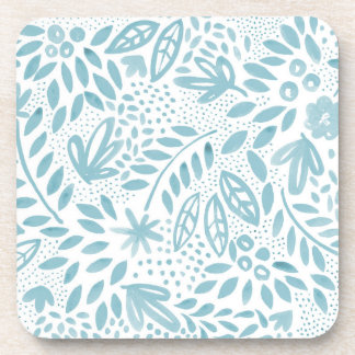 Belle Blue Floral Coaster Set