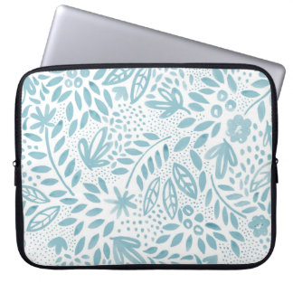 Belle Blue Floral Laptop Sleeve
