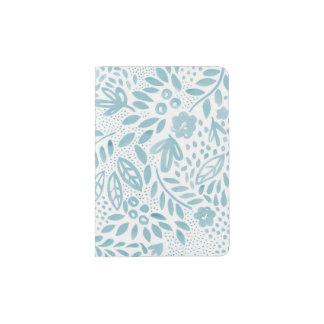 Belle Blue Floral Passport Holder