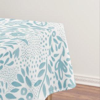 Belle Blue Floral Tablecloth