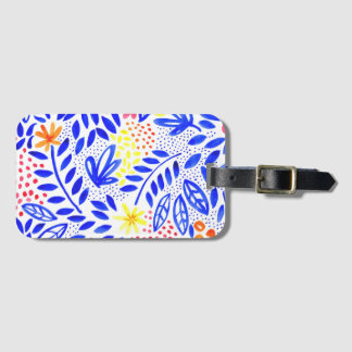 Belle Bold Floral Luggage Tag