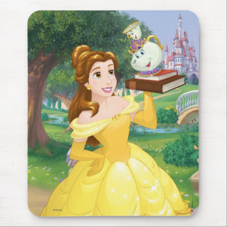 Belle | Books With Mrs. Potts And Chip Mouse Pad