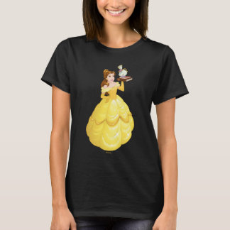 Belle   Books With Mrs. Potts And Chip T-Shirt