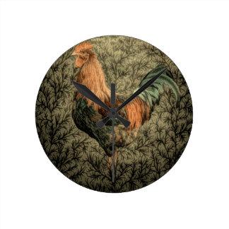 Belle conception rustique de coq pendules