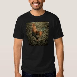 Belle conception rustique de coq t shirts