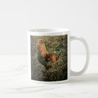 Belle conception rustique de coq mugs à café