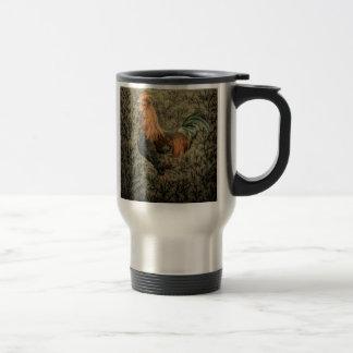 Belle conception rustique de coq mug à café