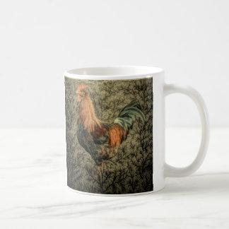 Belle conception rustique de coq tasse à café