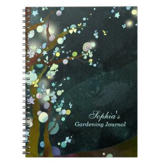 Belle cuisine de nuit ou note de jardinage de carnet
