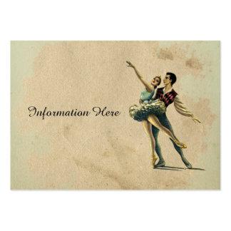 Belle danse vintage de couples de ballet carte de visite grand format