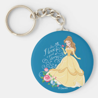 Belle | I Love A Good Story Basic Round Button Keychain