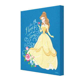 Belle | I Love A Good Story Canvas Print