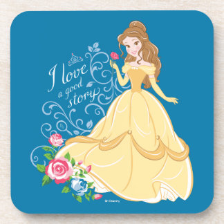 Belle | I Love A Good Story Drink Coaster