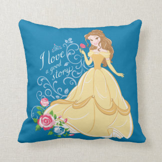 Belle | I Love A Good Story Throw Pillow