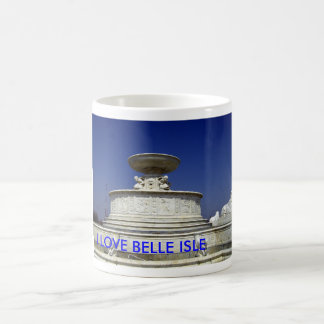 BELLE ISLE FOUNTAIN, I LOVE BELLE ISLE COFFEE MUG