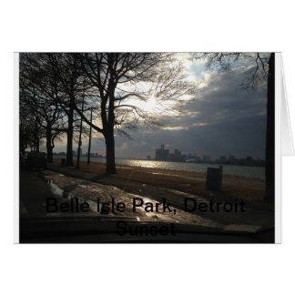 Belle Isle Park, Detroit Sunset Card