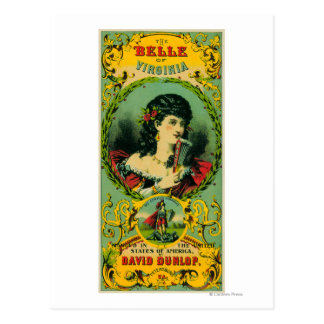 Belle of Virginia Tobacco LabelPetersburg, VA Postcard