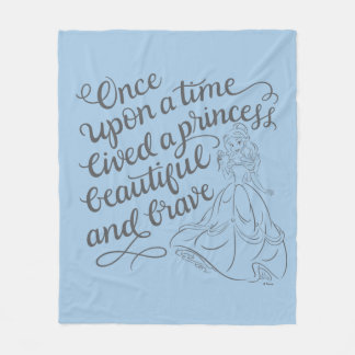 Belle |Once Upon A Time Fleece Blanket